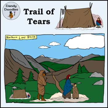 Trail of Tears Clip Art by Dandy Doodles