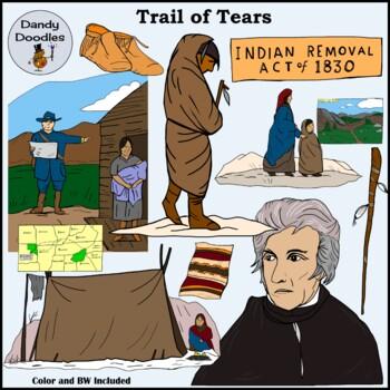 Trail of Tears Clip Art by Dandy Doodles