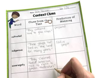 Trail of Tears- Differentiated Guided Reading Focus on Context Clues