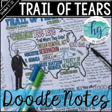 Trail of Tears Doodle Notes and Digital Guided Notes