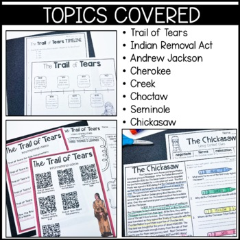 Trail of Tears: Informational text, timeline, Andrew Jackson biography, and more