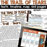Trail of Tears: Informational text, timeline, skill pages / Distance Learning
