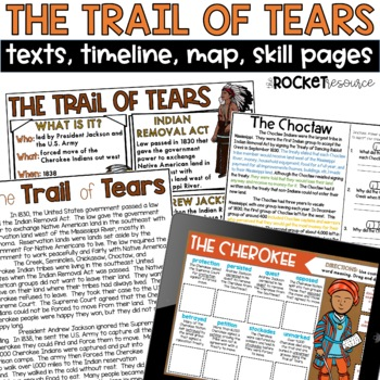 Trail of Tears: Informational text, timeline, Andrew Jacks
