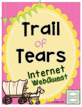 trail of tears internet scavenger hunt activity webquest tpt. Black Bedroom Furniture Sets. Home Design Ideas