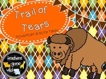 Trail of Tears PowerPoint & Note Taker