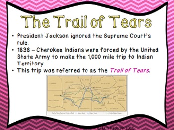 Trail of Tears PowerPoint and Notes Set