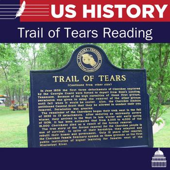 Trail of Tears Reading and Questions
