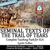 Trail of Tears Paired Seminal Texts Primary Sources Lesson, Native Americans