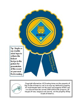 Trail to Bobcat Cub Scout Rank