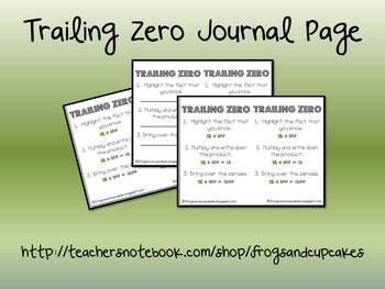 Trailing Zero Journal Page