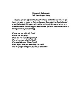 Trails West Lesson Packet