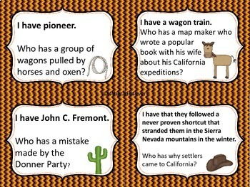 Trails to California: I Have Who Has?Game Reviews Famous People Places...