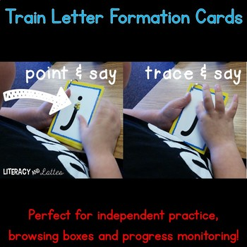 Train Alphabet and Handwriting Cards {Perfect for RtI, & intervention}