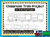 Train Art Project, Cut and Color - Classroom Project - Cooperative Art