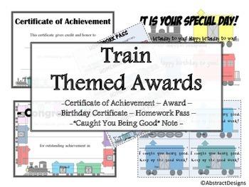 Train Awards Set