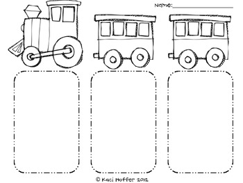 Train Beginning Middle and End Response Sheet