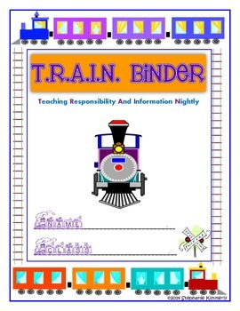 Train Binder Cover