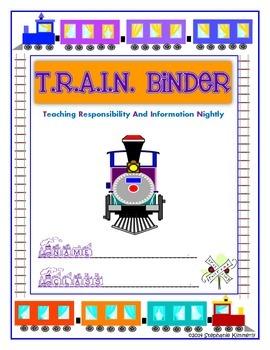 Train Binder Cover