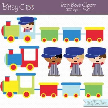 Train Boys Clipart Commercial Use Clip Art