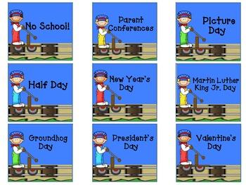 Train Calendar Kit