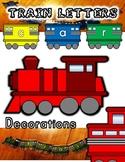 Train Classroom Letter Decoration Sets