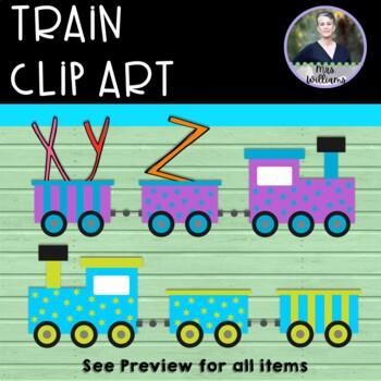 Train Clip Art - 12 total - 300 dpi