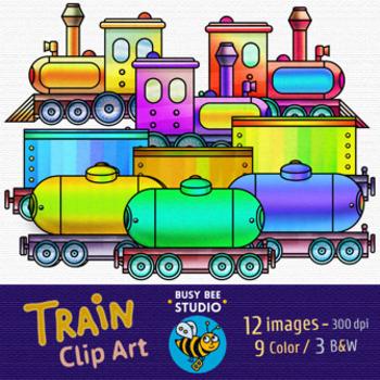 Train Clip Art Set