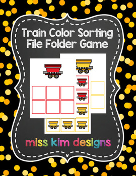 Train Color Sorting Folder Game for students with Autism