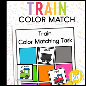 Train Colors Matching Folder Game for Early Childhood Special Education