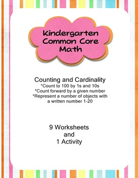 Train Common Core Kindergarten Math Counting and Cardinality