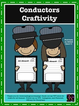 Polar Express Book Companion Crafts: Train Conductor Writing & Hat (Christmas)