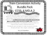 Train Conversion BUNDLE 5 Games Included ~ Domino Game Assessment CCSS 4.MD.A.2