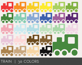Train Digital Clipart, Train Graphics, Train PNG, Rainbow