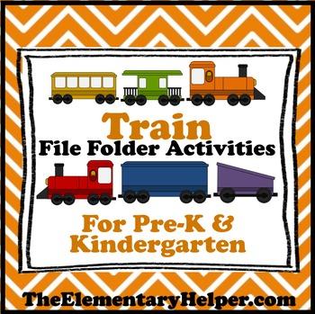 Train File Folder Activities for Preschool and Kindergarten