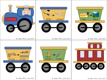 Train Track Final Consonant Deletion Activity