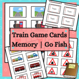Train Matching Game Cards for Memory and Go Fish