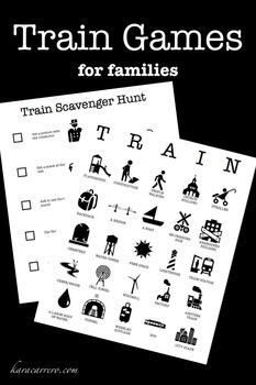 Train Games for traveling with kids