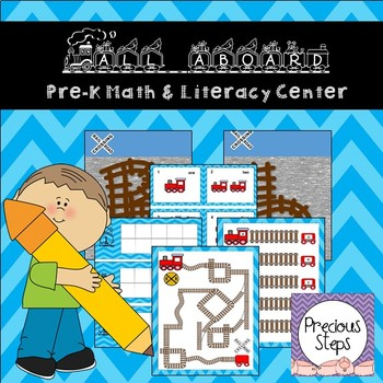 Train Math and Literacy Center for Pre-K