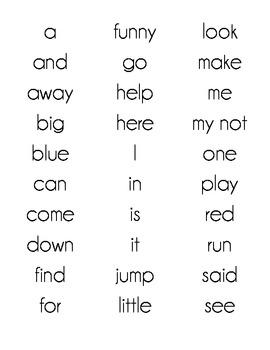 Train Mini Word Wall Set - Dolch Word List