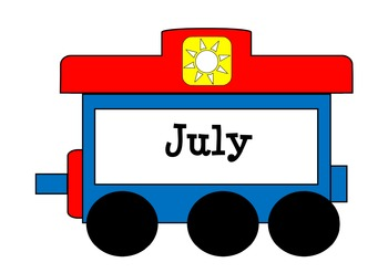 Train Months Days Number Ten Frame Pack