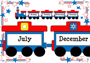 Train Months and Days Class Display