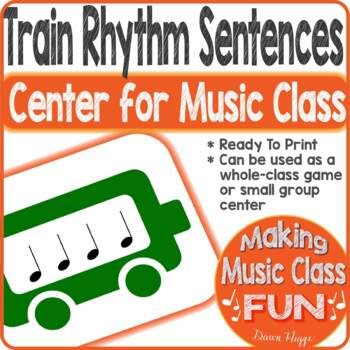 Train Music Rhythm Centers Game and Smartboard Activity
