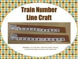 Train Number Line Craft