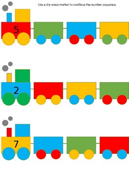 Train Ordering Numbers/Number Sequence - editable