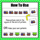 Train Pattern Cards and Worksheet - S