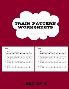 Train Pattern Worksheets - 3 Worksheets