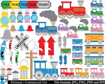 Train Props - Digital Clipart Instant download - 181 images cod212