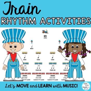 Music Train Rhythm Activities Level 1 Google Apps Digital Resource