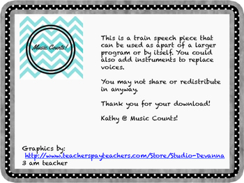 Train Speech Piece