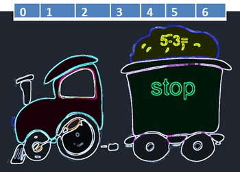 Train Subtraction, Addition and Sight Word Review